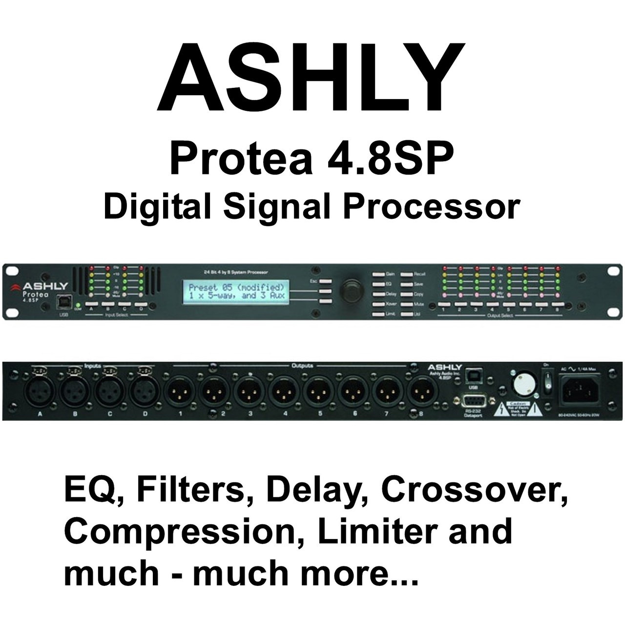 ASHLY PROTEA 4 8SP Professional Multiple Digital Processor $30 Instant  Coupon Use Promo Code: $30-OFF