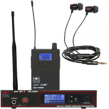 Galaxy AS-1100 Any Spot Personal Wireless Monitor EB4 Ear Buds Earphone System