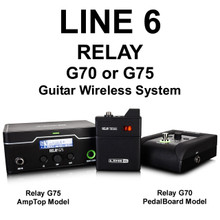 Line 6 Relay G70 Pedalboard Model or G75 Amptop Model Guitar Wireless System $50 Instant Coupon Use Promo Code: $50-Off