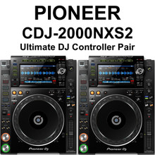 PIONEER CDJ-2000NXS2 Ultimate Professional Pair of Controller Decks with Rekordbox Software Ready