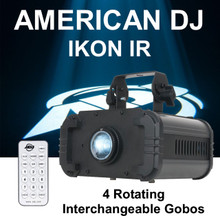 AMERICAN DJ IKON IR Rotating Gobo Projector Includes Remote & (4) Replaceable Gobos $20 Instant Coupon Use Promo Code: $20-Off