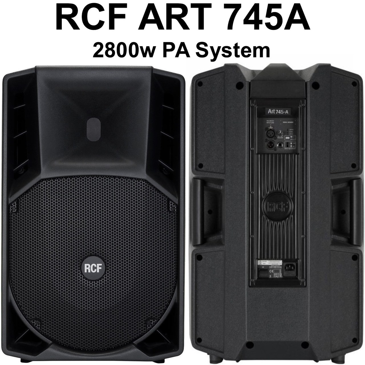 RCF ART 745-A 2800w Active PA System Speaker Pair $150 Instant Coupon Use  Promo Code: $150-OFF