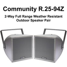 COMMUNITY R.25-94Z Full-Range 2-Way Weather Resistant Speaker Pair $50 Instant Coupon Use Promo Code: $50-OFF