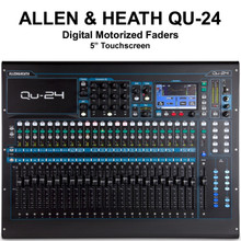 ALLEN & HEATH QU-24C Digital Touchscreen Motorized Fader Audio Mixer