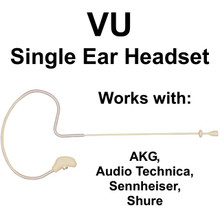 VU HM2000 Single Ear Affordable Headset Mic for AKG, AUDIO TECHNICA, SENNHEISER or SHURE $5 Instant Coupon Use Promo Code: $5-OFF