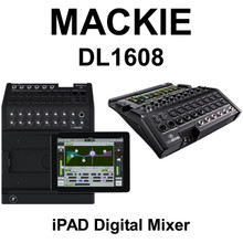 MACKIE DL1608 Digital Live Sound 16 Channel  Audio Mixer with Lightning Plug  & iPad Control