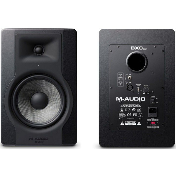 m audio bx8 d3 active 300w total nearfield reference studio monitors 20 instant use promo code. Black Bedroom Furniture Sets. Home Design Ideas