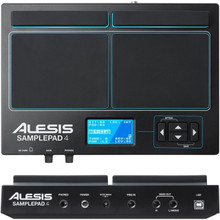 ALESIS SAMPLEPAD 4 Drum Trigger Midi Interface Built-In Percussion Library $10 Instant Coupon Use Promo Code: $10-OFF