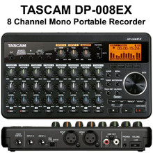 TASCAM DP-008EX Compact 8 Track Digital PocketStudio Recorder with 2GB SD Card