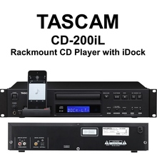 TASCAM CD-200iL Rackmount Lightning Connector iDock Player