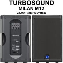 TURBOSOUND MILAN M12 2200w Peak Active Klark Teknik PA Speaker System Pair $30 Instant Coupon Use Promo Code: $30-OFF
