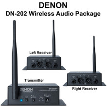 DENON DN-202 Series (1) Transmitter & (2) Receiver Wireless Audio Package $15 Instant Coupon Use Promo Code: $15-OFF