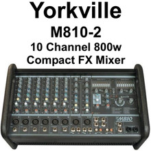 Yorkville M810-2 10 Channel 800w Compact FX Audio Mixer $20 Instant Off Use Promo Code: $20-OFF