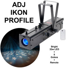 AMERICAN DJ IKON Profile Gobo Projector includes Remote & (5) Replaceable Gobos