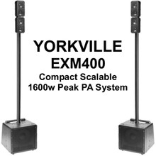 Yorkville EXM400 Compact Scalable Bluetooth 1600w Peak PA Speaker System Pair $80 Instant Coupon Use Promo Code: $80-OFF