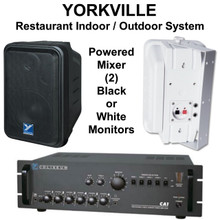 Yorkville CA1/C120 Pack Complete Zone PA with Black or White Speakers
