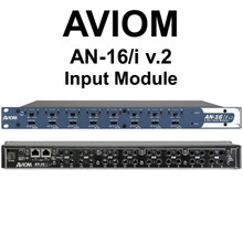 AVIOM AN-16/i v.2 Input Module Connects Personal Audio Mixers Over CAT5e