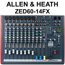 ALLEN & HEATH ZED-60/14FX 12 Channel USB Compact Live Recording Audio Mixer