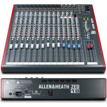 ALLEN & HEATH ZED-18 Compact Multi-Purpose USB Live Recording Mixer