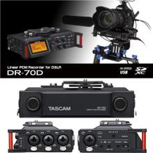 TASCAM DR-70D Portable 4 Channel Digital Field Recorder For DSLR Film Makers