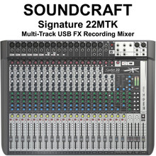 SOUNDCRAFT SIGNATURE 22MTK Multi-Track Professional Lexicon FX USB Recording Mixer $20 Instant Coupon use Promo Code: $20-OFF