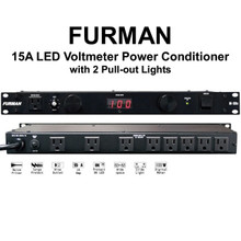 FURMAN M-8DX Dual Light LED Voltmeter Rackmount 15A Power Conditioner $5 Instant Coupon Use Promo Code: $5-Off