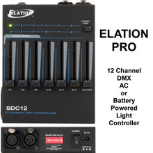 ELATION SDC12 DMX AC or Battery Powered 12 Channel Light Controller