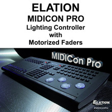 ELATION MIDICON PRO DMX USB ART-NET Software Lighting Controller Interface with Motorized Faders