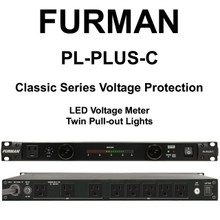 FURMAN PL-PLUS-C Classic Series 15A Dual Light LED Voltmeter Rackmount Power Conditioner