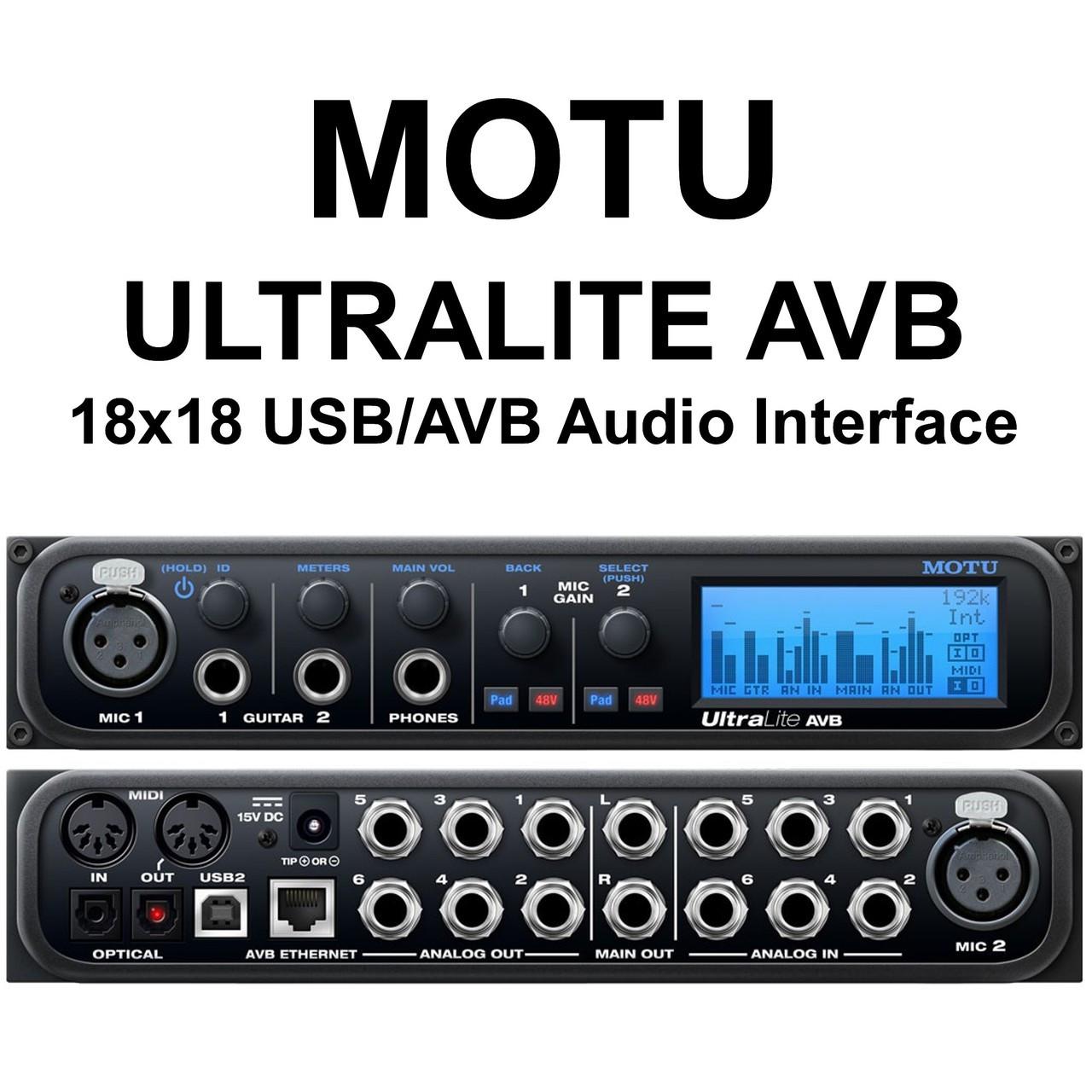 MOTU ULTRALITE AVB 18x18 Compact Ethernet USB Audio Interface $25 Instant  Coupon use Promo Code: $25-OFF