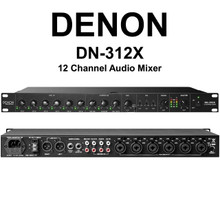 DENON DN-312X 12 Channel 1U Rackmount Mixer with Priority Control $10 Instant Coupon Use Promo Code: $10-OFF