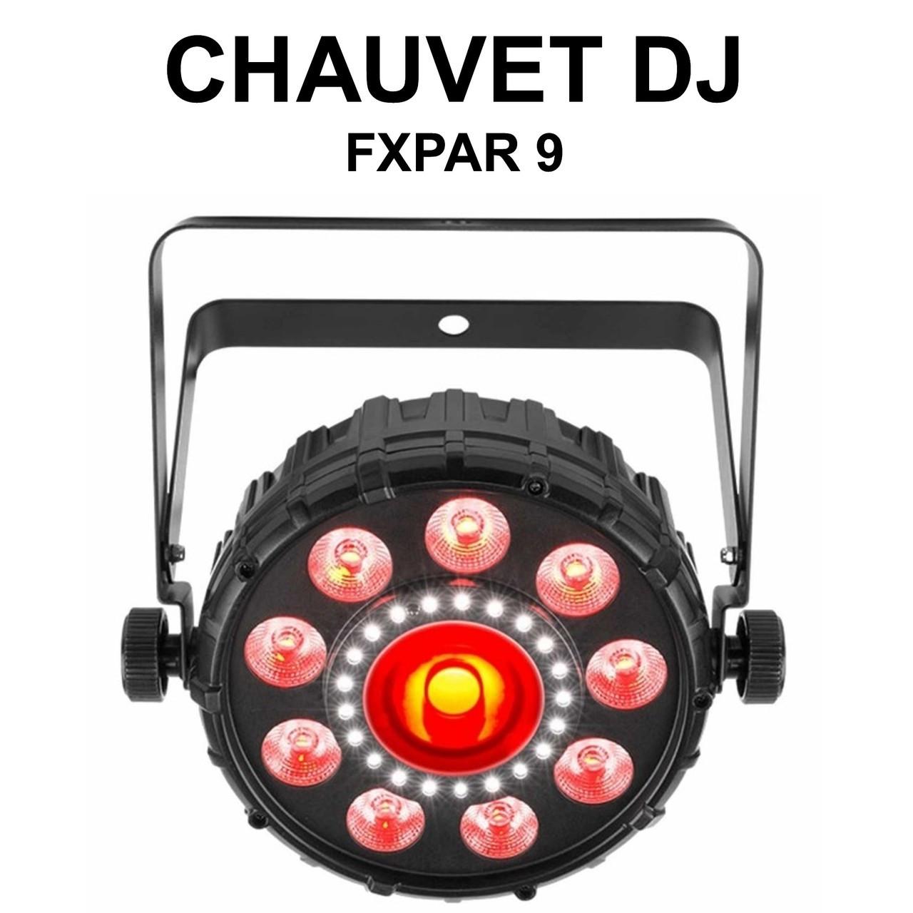 CHAUVET DJ FXPAR 9 Multi Source RGB+UV LED Light Fixture $10 Instant Coupon  Use Promo Code: $10-OFF