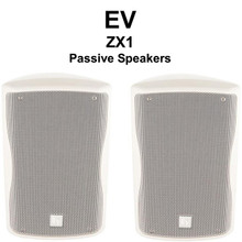 EV ZX1-90W White Indoor Passive PA Monitor Speaker System Pair $10 Instant Coupon Use Promo Code: $10-OFF