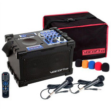 VOCOPRO JAMCUBE MC SD Player & 2 Wired Mics Portable PA System $10 Instant Coupon Use Promo Code: $10-OFF
