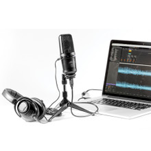 ART C1USB FET Wide Diaphragm Side Address USB Podcast Mic with Hard-tail Adaptor and Desktop Stand