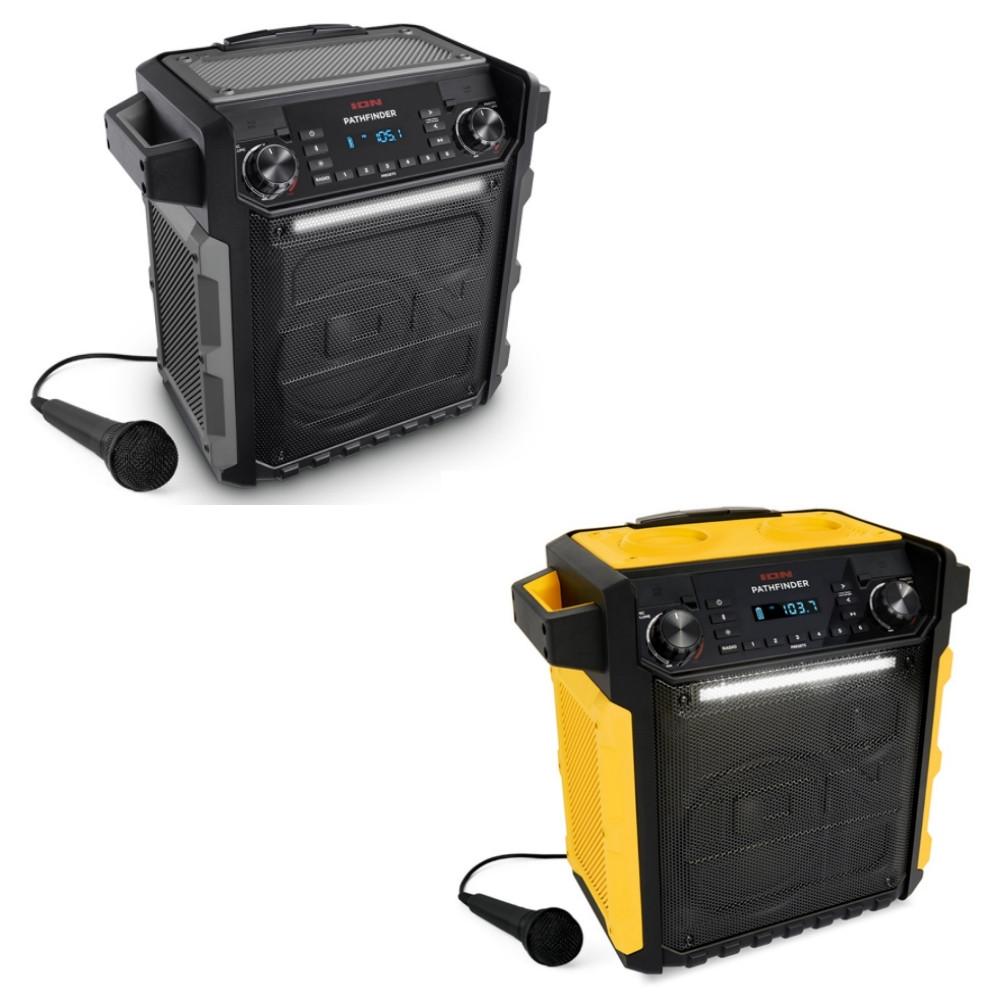 ION Pathfinder 100 Watt  Bluetooth Waterproof Rechargeable AM FM Speaker w Mic