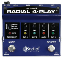 RADIAL ENGINEERING 4 PLAY Multi-Channel Live or Studio Instrument Direct Box