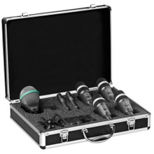 AKG CONCERT 1 Professional Touring 7 Mic Drum Pack with Travel Case