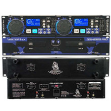 VOCOPRO CDG-8900 PRO Dual Tray Rackmount KJ/DJ CD Players  $10 Instant Coupon Use Promo Code: $10-OFF