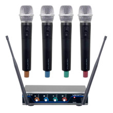 VOCOPRO DIGITAL-QUAD-H 4-Channel Digital Wireless Handheld Microphone System $15 Instant Coupon Use Promo Code: $15-OFF