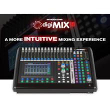 ASHLY digiMIX18 Intuitive Rackmount Touchscreen Motorized Fader Digital Mixer