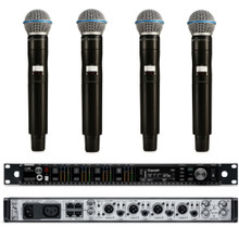 SHURE AXIENT Bundle AD4Q & AD2/B58 4 Channel Digital Rackmount Receiver & Mic Wireless System