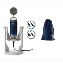 BLUE SPARK DIGITAL Studio Mic for iOS, Mac, PC with Volume, LED Meter, Shockmount, Cables & Bag $5 Instant Coupon Use Promo Code: $5-OFF
