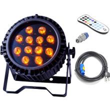 PROST LIGHTING UBER PAR 12x18w RGBAW+UV Hex LED Wash Light with Remote