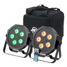 AMERICAN DJ MEGA 64 HEX PAK 2 LED Lights, Carry Bag and Remote $10 Instant Coupon use Promo Code: $10-OFF