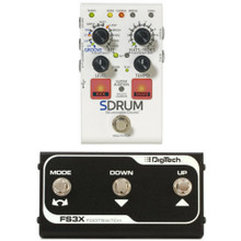 DIGITECH SDRUM Intelligent Pedal Bundle with FS3X Footswitch Controller $5 Instant Coupon Use Promo Code: $5-OFF