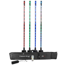 CHAUVET FREEDOM STICK PACK Tri-Color Pixel Map RGB LED Light Fixtures, Case, Stands & Remote $25.00 Instant Coupon use Promo Code: $25-OFF