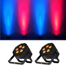 AMERICAN DJ MEGA QA GO (2) Rechargeable Lithium Battery Sit-Flat LED Par Pack $20 Instant Coupon use Promo Code: $20-OFF