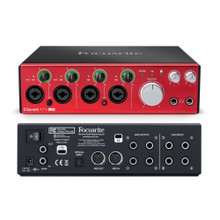 FOCUSRITE CLARETT 4Pre USB Professional 18x4 Audio Digital Studio Interface with Software for PC or Mac