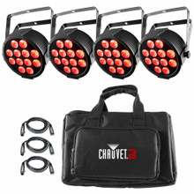 CHAUVET DJ SLIMPACK Q12USB (4) RGBA LED Lights with Cables and Carry Bag $10 Instant Coupon Use Promo Code: $10-OFF